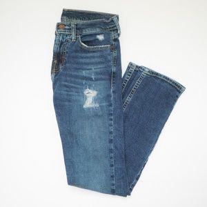 Hollister Medium Wash DISTRESSED Skinny Jean MENS